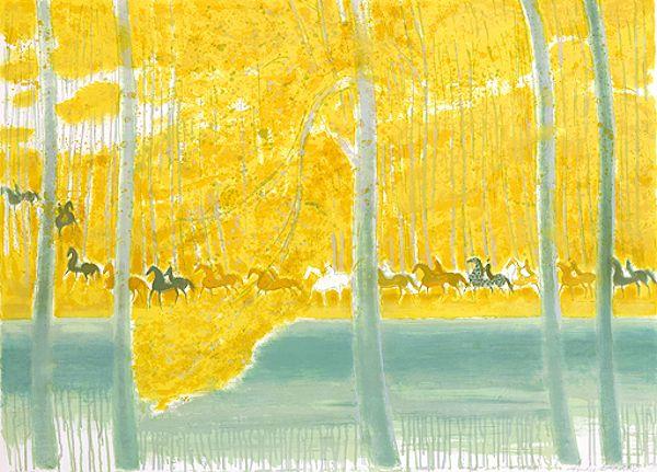 ブラジリエ 『池の端の騎馬行進』