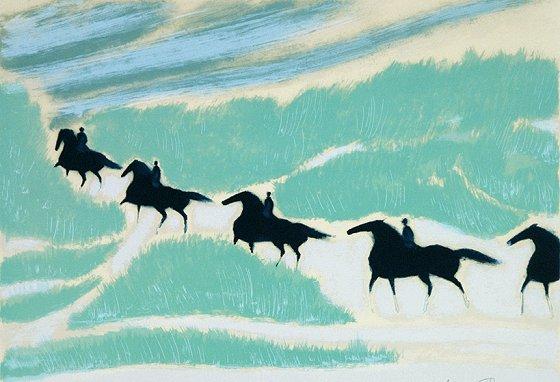 ブラジリエ 『縦列騎馬』