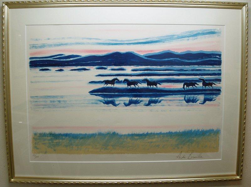 ブラジリエ・版画(リトグラフ)「アイルランドの黄昏」
