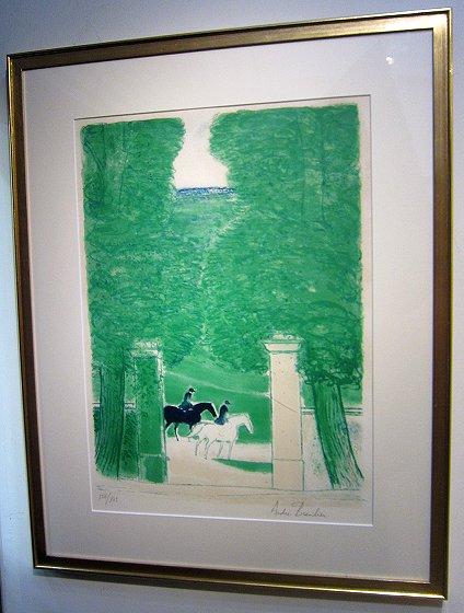 ブラジリエ・版画(和紙)「ルーペーニュの乗馬」