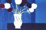 カトラン【青い背景のアネモネ】