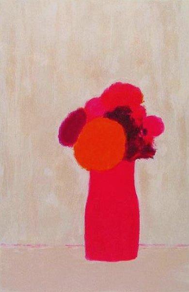 カトラン 『赤い花瓶の赤い小さな花束』