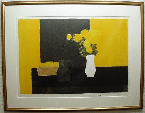 カトラン・版画(リトグラフ)『レモンバスケットのある静物』