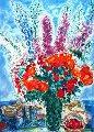 シャガール【キンポウゲの花束】