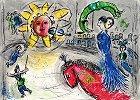 シャガール【太陽と赤い馬】