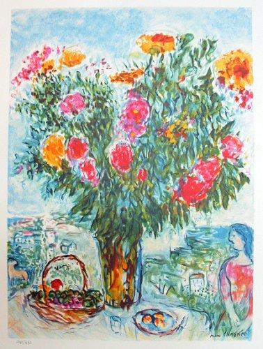 マルク・シャガール『大きな花束』