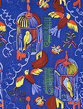 デュフィ 画家への手紙【青い背景の鳥籠】
