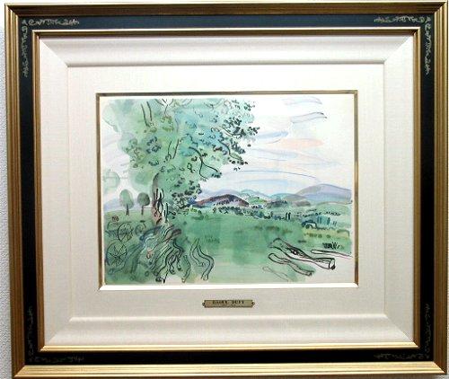 デュフィ・版画(リトグラフ)「葡萄のなる山」