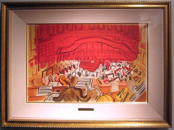 デュフィ・版画(リトグラフ)「ピアノコンサート」