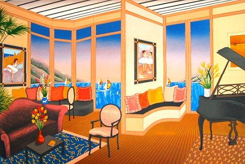 ファンシュ・版画(リトグラフ)・ドガのある部屋