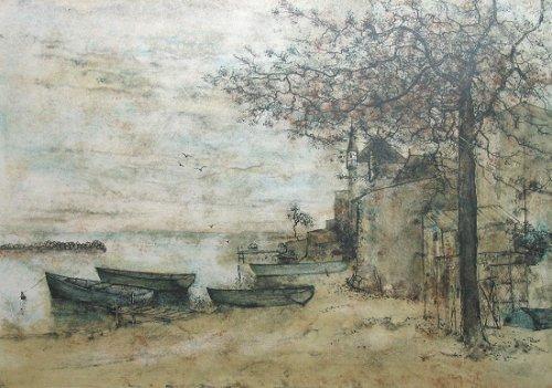 ガントナー『湖畔の舟』