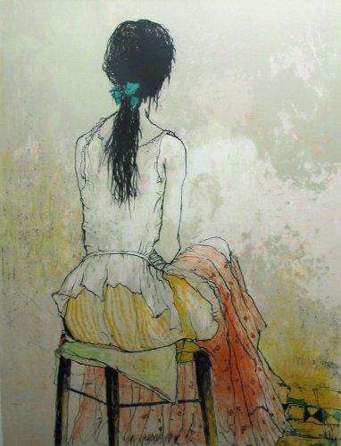 ジャンセン・版画(リトグラフ)・セリーヌ