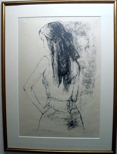 ジャンセン・版画(リトグラフ)「カトリーヌ」