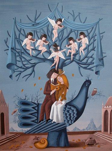 ペイネ・版画(リトグラフ)・秋の日のヴィオロン