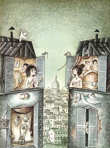 ペイネ 『窓辺のおしゃべり』