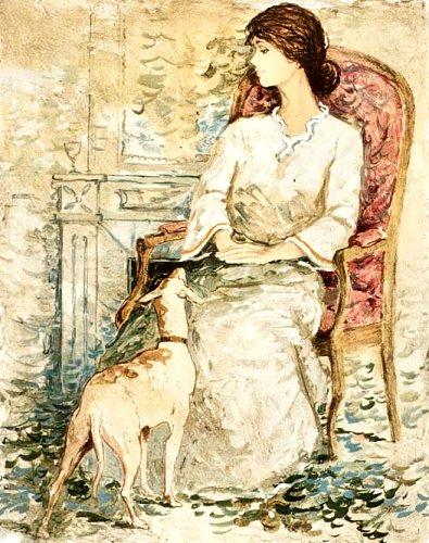 シャロワ「犬と婦人」
