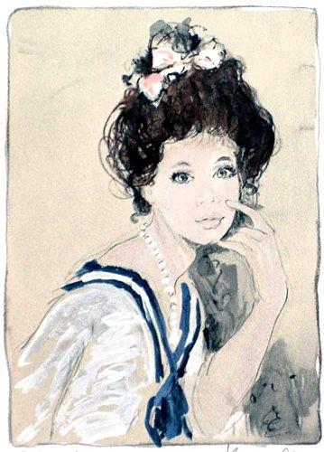 シャロワ『セーラーカラーの少女』