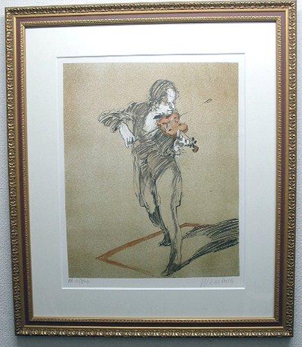 クロード・ワイズバッシュ・版画(リトグラフ)「トロイメライ」