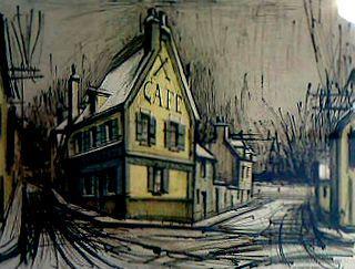 ベルナール・ビュッフェ『青と黄色の家』