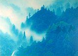 東山魁夷【山嶺湧雲】