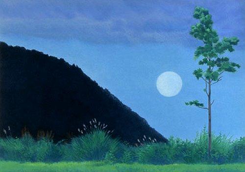 東山魁夷・版画(リトグラフ)・月涼し