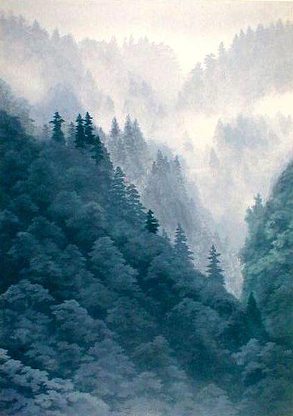 東山魁夷「霧の山峡」