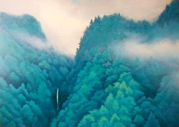東山魁夷・版画(リトグラフ)・山峡雨晴